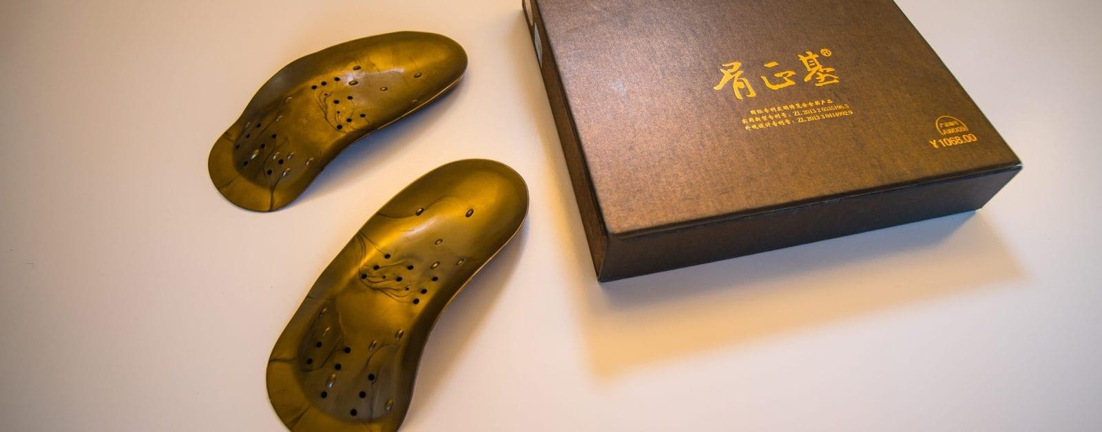 sfeerbeeld foto van guzhengji de chinese voetzooltjes te koop bij Quanjian in Eindhoven